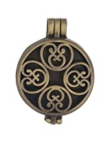 Golden Peacock Gold Metal Locket for Women