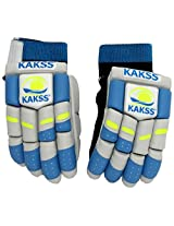 KAKSS Men's Soft Leather Batting Gloves (Size: Men, Blue)