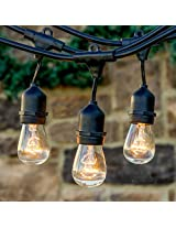 "Brightechâ""¢ - Ambience PRO - Outdoor Commercial String Lights with included 11S14 Bulbs"