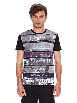 Desigual Camiseta Stuca (Negro)