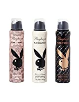 PlayBoy Women Deo, Lovely,Sexy,Spicy (Pack of 3)