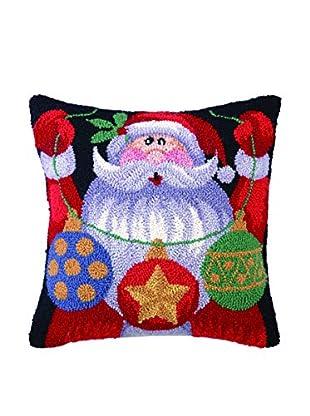 Peking Handicraft Santa's Ornaments Throw Pillow, Multi