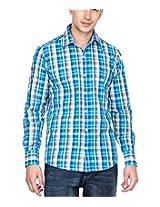 GHPC Men's 100% Cotton Checkered Casual Shirt