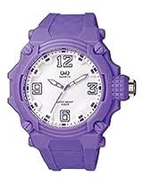 Q&Q Analog White Dial Unisex Watches - VR56J008Y