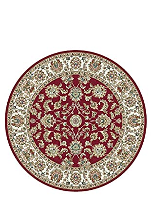 Universal Rugs Capri Traditional Area Rug, Red, 6' Round