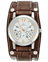 Maxima Attivo Analog White Dial Men's Watch - 24261LMGI