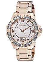 Seiko Lord Analog Gold Dial Women's Watch - SUR802P1