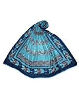 Uso Uno printed shawl in marino wool