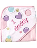 Luvable Friends I Love Family Hooded Towel Pink