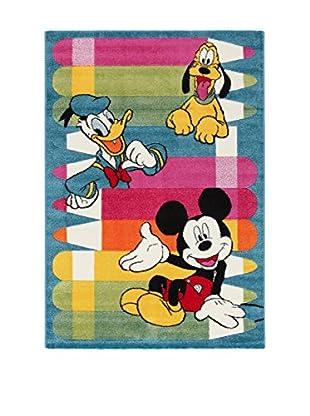 Disney Teppich Disney Premium Mickey blau/mehrfarbig 100 x 150 cm