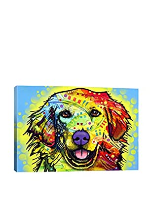 Dean Russo Golden Retriever Gallery Wrapped Canvas Print