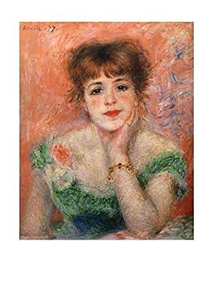 LegendArte  Wandbild Jeanne Samary in einem niedrigen Necked Kleid von Pierre Auguste Renoir