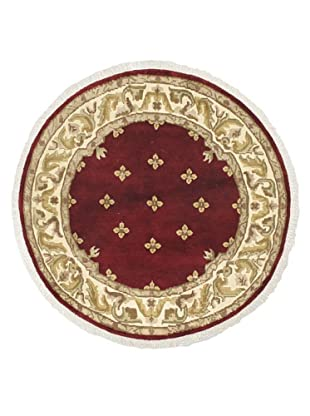 Hand-Knotted Karma Wool Rug, Dark Red, 5' 8