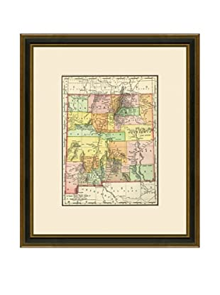 Antique Lithographic Map of New Mexico, 1886-1899