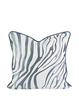 Bahari Embroidered Pillow, Light Blue