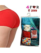Seasons Hushh Pack Of 4 Women High Waist Panties B110B1103IP_Multi