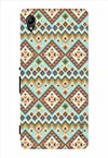 Noise Blue Lace Printed Cover for Sony Xperia M4