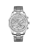 Caravelle Caravelle New York 43L171 Ladies Melissa Silver Chronograph Watch - 43L171