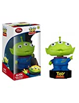 Squeeze Toy Alien ~5 Bobble Head Figure: Disney Pixar Toy Story Wacky Wobbler