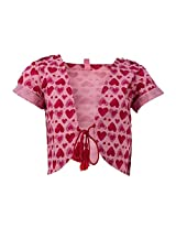 Tickle Girls Kid's Shrug(TISR000017A-4-5 Y_Pink_4-5 Y)