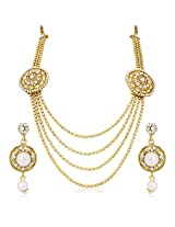 Meenaz Traditional Necklace Sets Jewellery Sets Gold Plated With Earrings For Women,Girls NL107