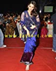 Aishwarya Rai Blue Bollywood Designer Net Saree