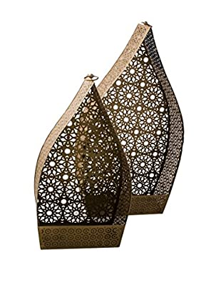 Set of 2 Namaste Extra-Large Lanterns, Gold