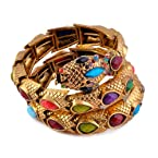 Monisha Daga Snake Charmed Multi-Colored Bracelet BT18-MC for Women