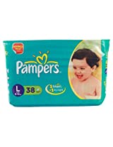 Pampers IMAX Diapers Value Pack Large - 38Pcs (9 - 14 Kgs)