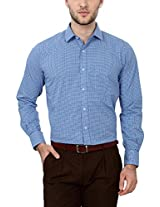 Peter England Comfort Fit Shirt _ PSF51507622_40_ Blue