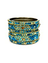 Bangles N More Lac Bangle Set For Women (Gold)