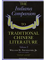 The Indiana Companion to Traditional Chinese Literature: v. 2: 002