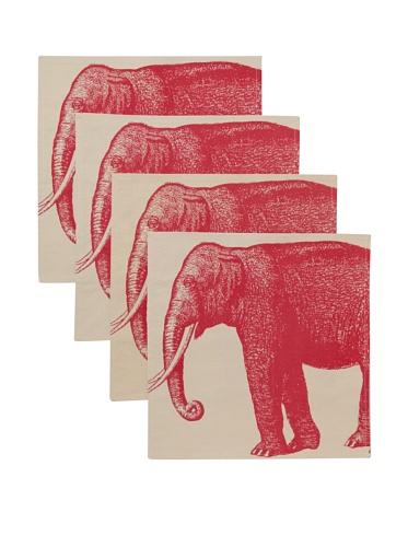 Thomas Paul Elephant Napkin Set (Rose)