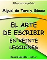 El Arte de escribir en veinte lecciones (Spanish Edition)