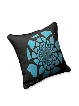AphroChic Mandala Pillow (Blue/Black)
