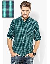 Blue Checks Regular Fit Casual Shirt Peter England