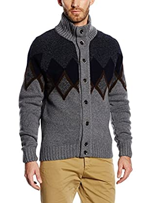 Hackett London Cardigan Lana Argyle Intarsia Crd