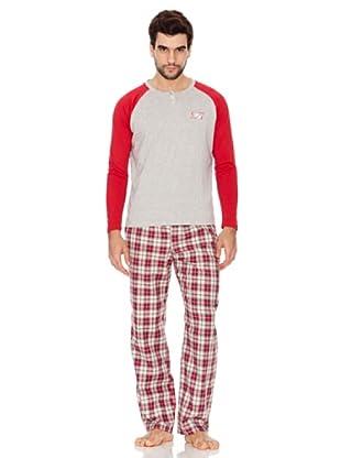 Kiff-Kiff Pijama Largo Combi Hombre (Multicolor)