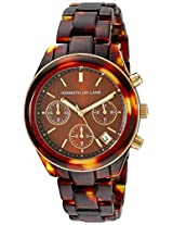 Kenneth Jay Lane Women's KJLANE-4002 4000 Series Analog Display Japanese Quartz Brown Watch