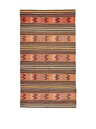 Design Community By Loomier Teppich Kilim Caucasico koralle/mehrfarbig 147 x 256 cm