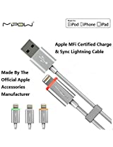 Mipow Apple Mfi Certified Lightning Charging Cable and Data Sync USB Cable with Color-changing Indicator for iPhone 6s / 6 / 6 Plus / 6s Plus/ 5s / 5 / 5c / , iPad Mini / Mini 2 / Air, iPad 4, iPod Touch 5 / Nano 7