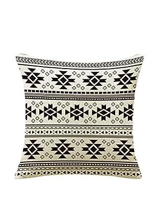 LO+DEMODA Kissenbezug Native 45X45 weiß/schwarz