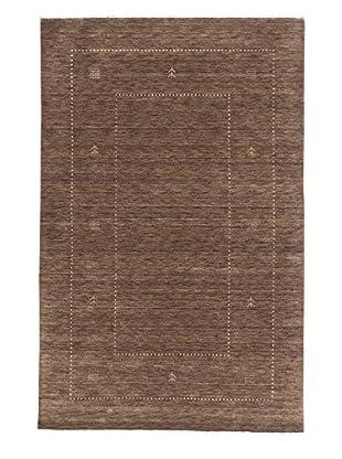eCarpet Gallery One-of-a-Kind Hand-Knotted Kashkuli Gabbeh Rug, Khaki/Grey, 4' x 6'