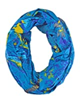 IR Accessories Women summer printed embellished scarf (Free Size ) (blue)