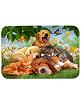 Caroline's Treasures PTW2049CMT Golden Retriever Labrador and Basset Hound Sleepy Heads Kitchen or Bath Mat, 20 by 30 , Multicolor