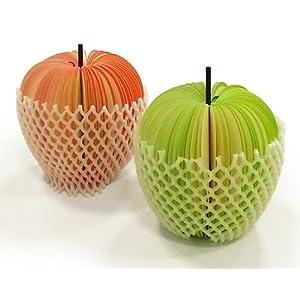 3Dリンゴメモ帳(赤リンゴと青リンゴのセットになります。)