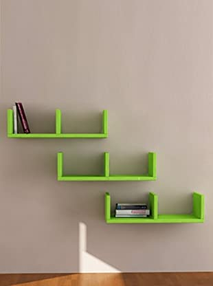 Decortie by Homemania Set 3 Estantes U (Verde)