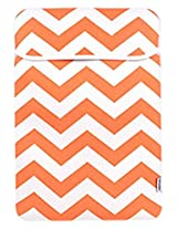 TopCase Chevron Series Orange Sleeve Bag Cover for All 15 15-inch Laptop Notebook / Macbook Pro with or without Retina Display - with TopCase Chevron Mouse Pad