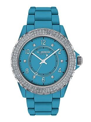 K&BROS 9558-8 / Reloj de Señora  con correa de plástico azul