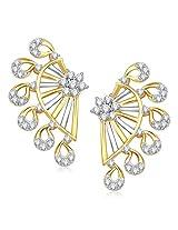VK Jewels Sweet Gold and Rhodium Plated Alloy Stud Earrings for Women & Girls -ER1338G [VKER1338G]
